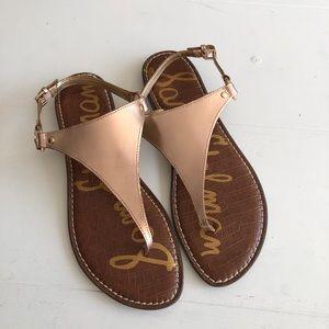 Sam Edelman Greta Copper Thong Sandals 12